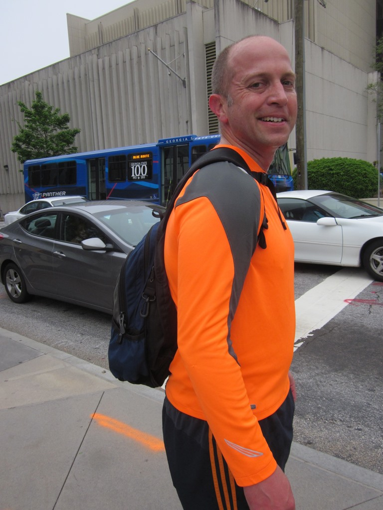 Running light -- and bright! -- though a hip or waist strap would reduce bag sway.