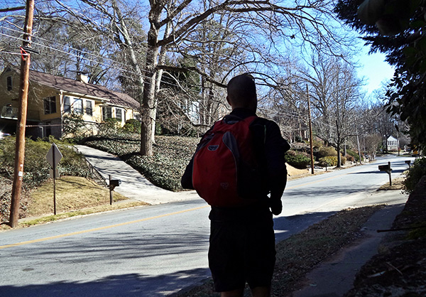 Running with a pack full of groceries