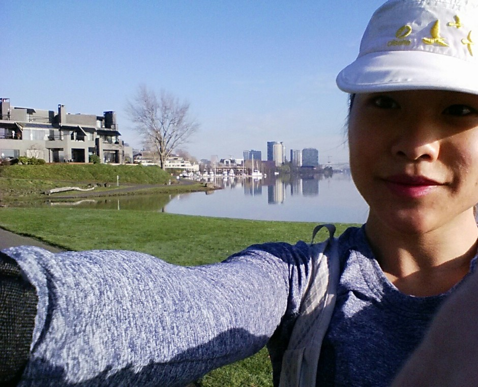 run commuter, run commuting, running to work, alternative commute, Becky Leung, Portland runner