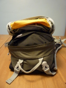 The Pack-It folder 15 inside the Osprey Manta 20.