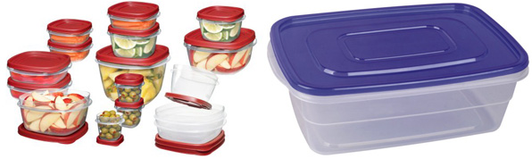 Reusables containers and a disposable container