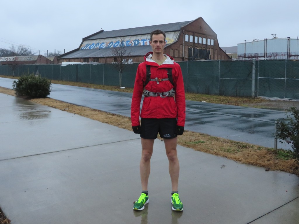 Don't be fooled by my default dour expression: I love rainy runs.