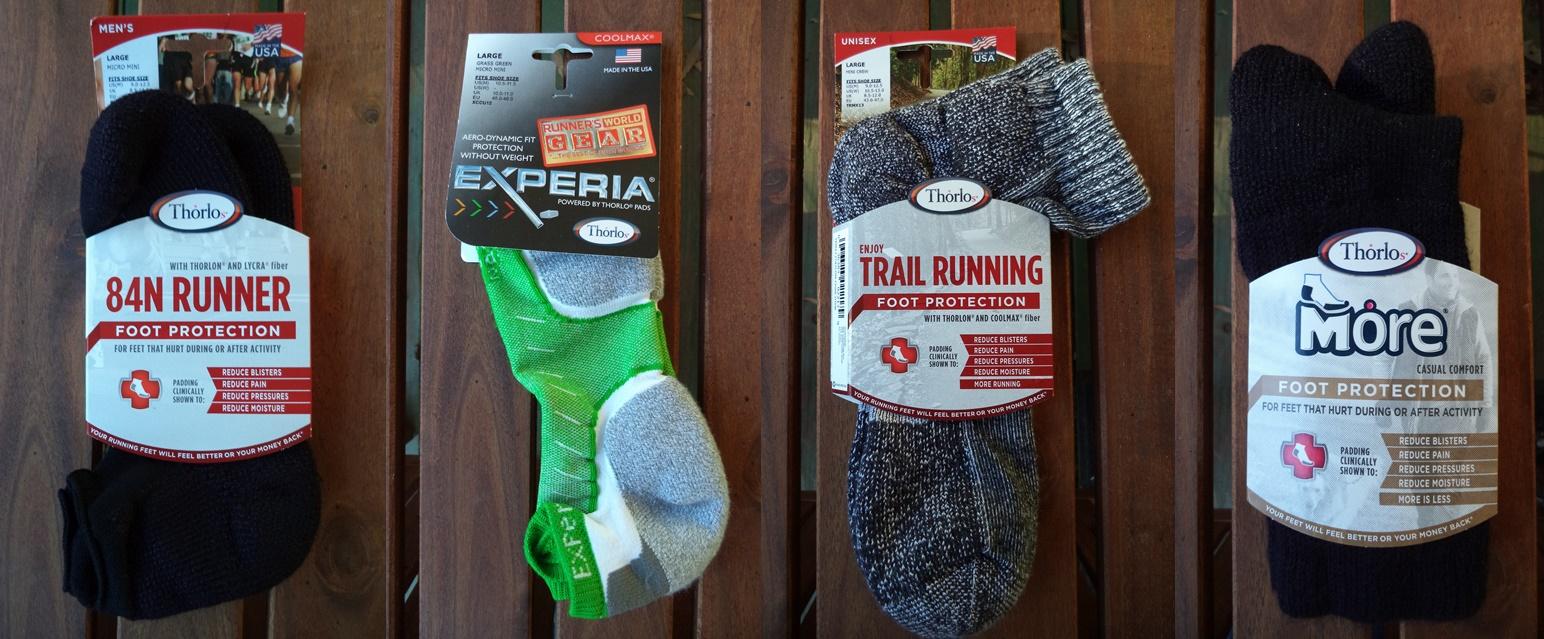 Thorlos, Thorlos 84N, Thorlos Trail Running, Thorlos More Casual Comfort, Thorlo
