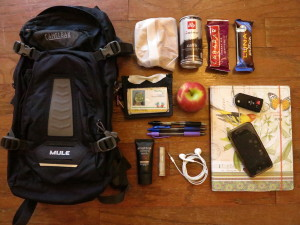 M. Suzette's backpack contents
