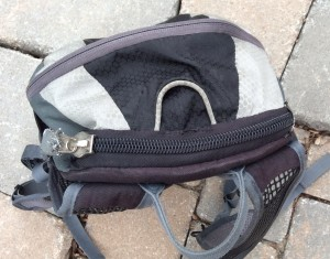 Top of pack with zipper modification