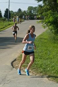 Pam Walker running the Run Through Hell race